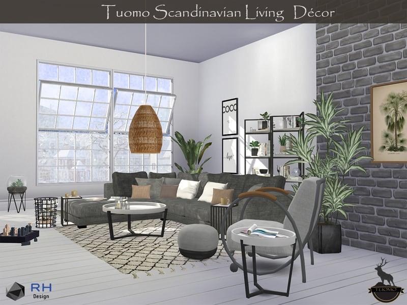 Tuomo Scandinavian Living Decor Sims 4 Mod Download Free