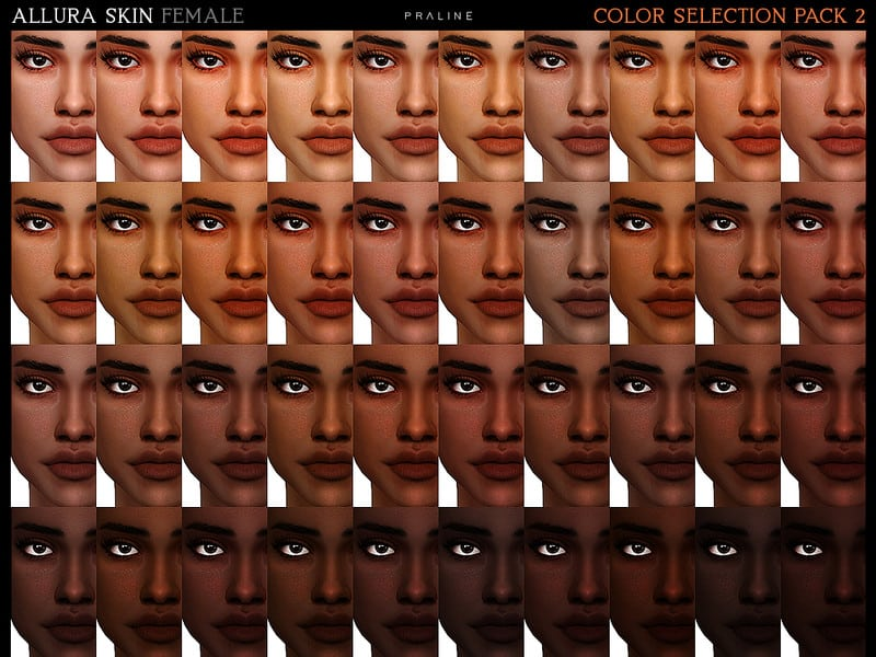 Allura Skin Color Pack 2 - Sims 4 Mod Download Free