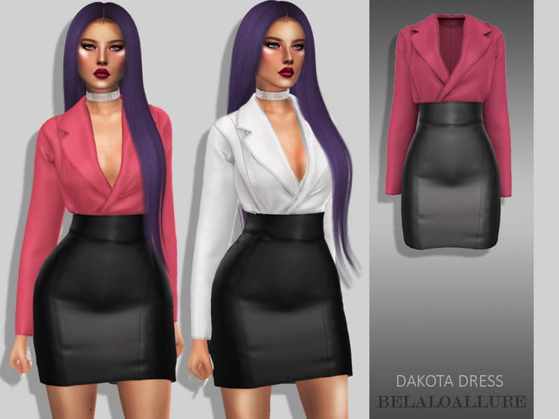 halpa kenkäkauppa tulokas Belaloallure Dakota dress - Sims 4 Mod Download Free