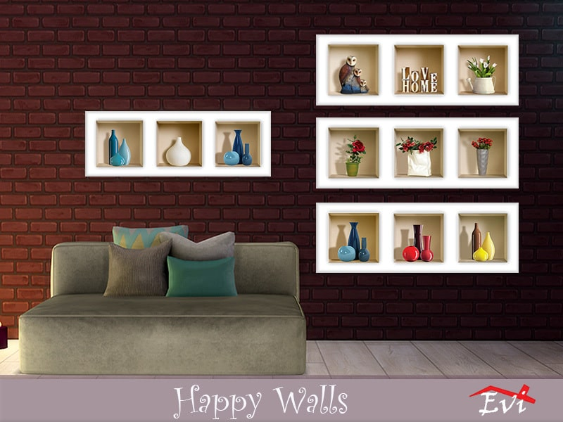 Happy Walls - Sims 4 Mod Download Free