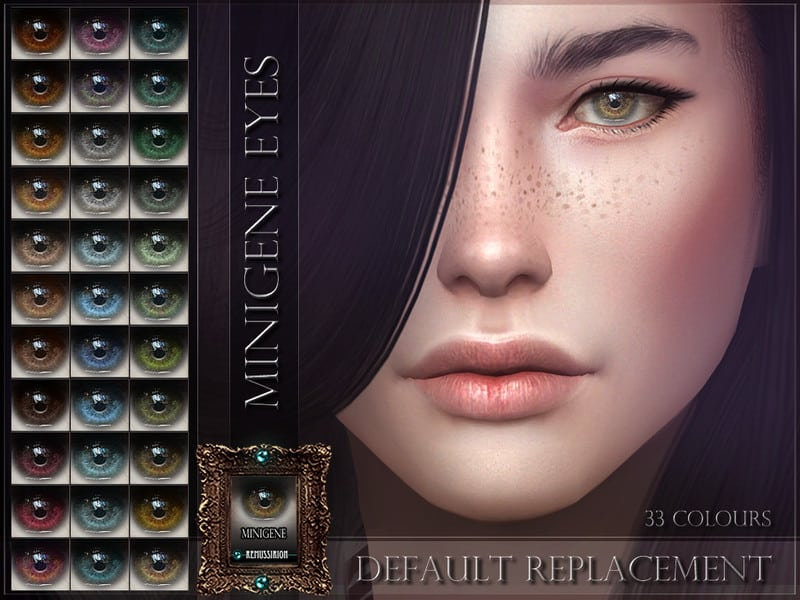 Minigene Eyes (Default) - Sims 4 Mod Download Free