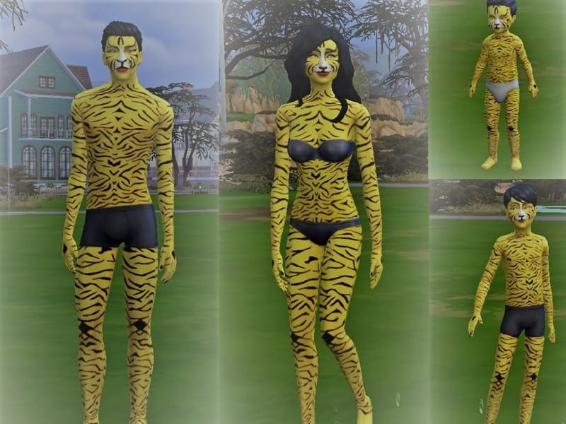 Non-Default Tiger Skintone V01 - Sims 4 Mod Download Free