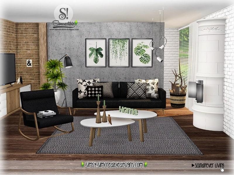Scandifever Living Room Sims 4 Mod