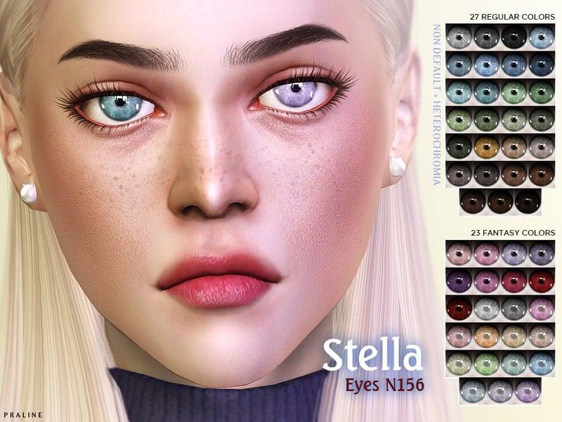 Stella Eyes N156 NON-DEFAULT + HETEROCHROMIA - Sims 4 Mod Download Free