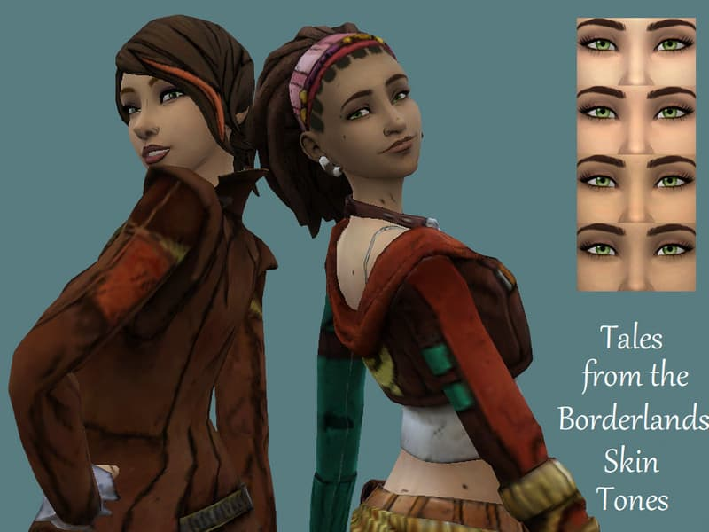 Tales from the Borderlands Skin Tones - Sims 4 Mod Download Free