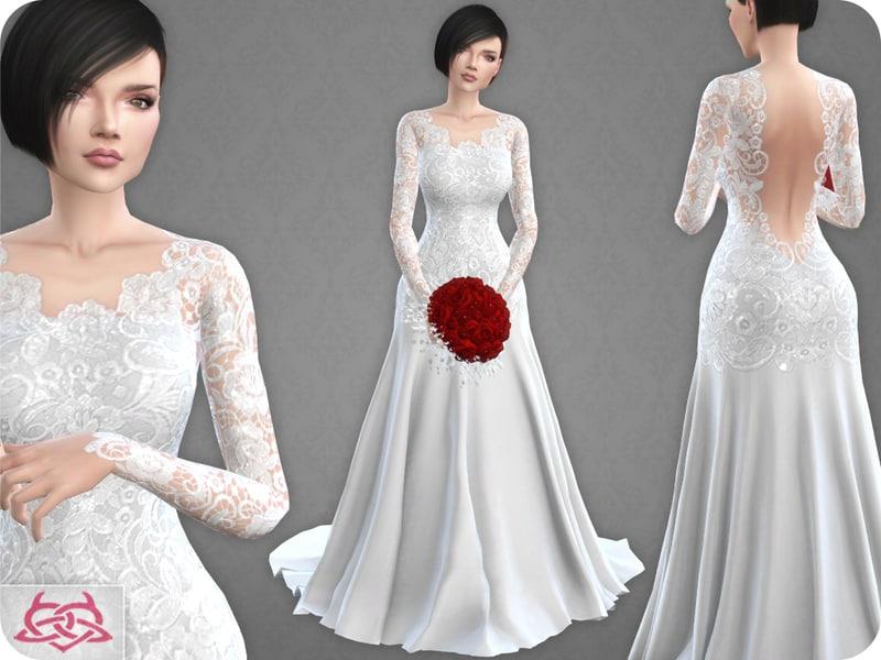 Wedding Dress 10 Original Mesh Sims 4 Mod Download Free