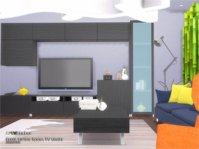 Besta Living Room TV Units [Ikea Inspired] - Sims 4 Mod ...