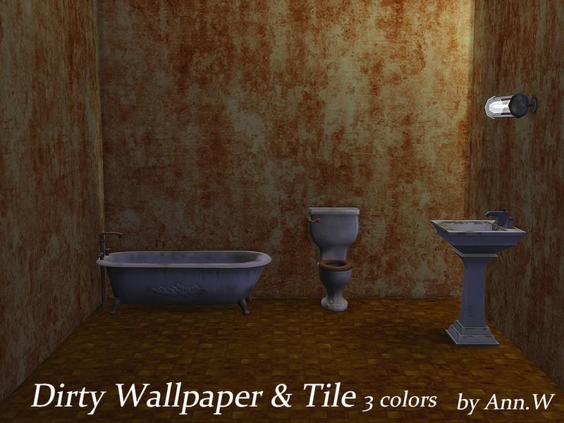Dirty Wallpaper Floor Set Sims 4 Mod Download Free