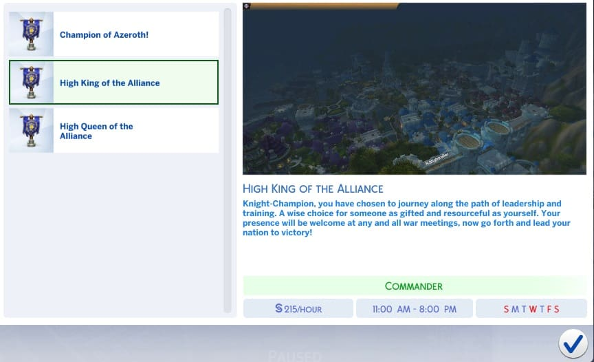 For The Alliance Custom Career - Sims 4 Mod Download Free