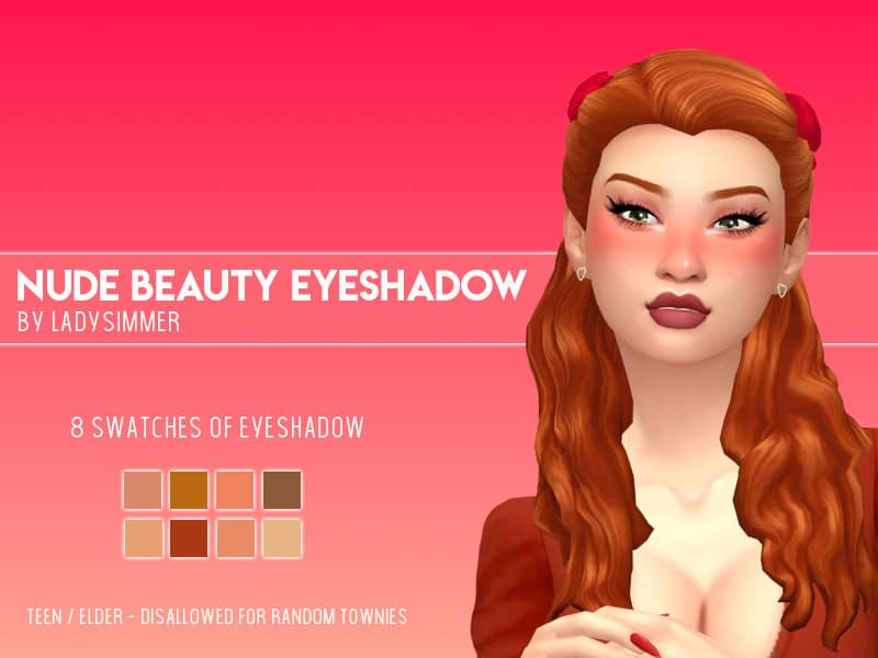 Nude Beauty Eyeshadow - Sims 4 Mod Download Free