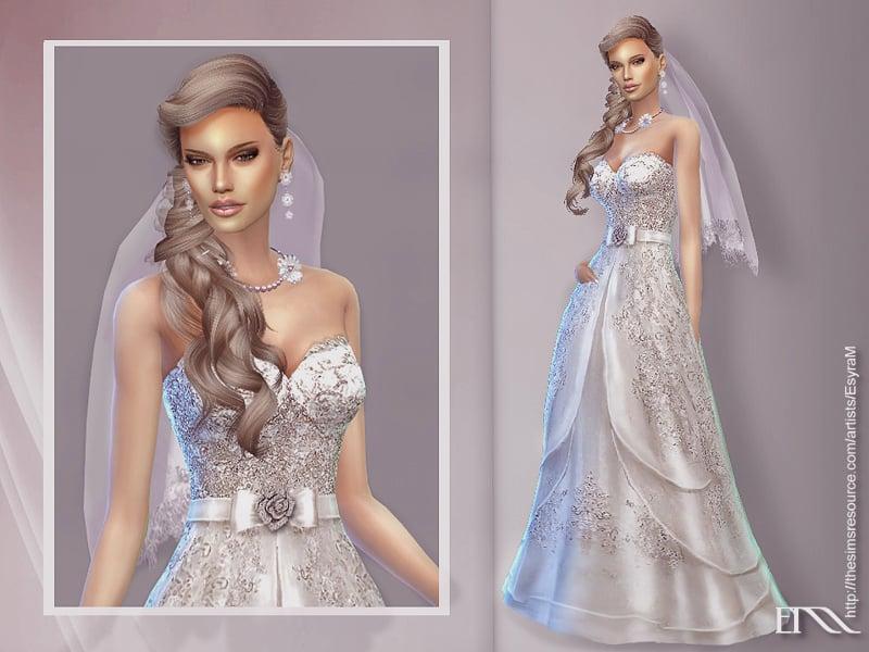 Sims 4 Wedding Dress.Vanya Wedding Dress Sims 4 Mod Download Free