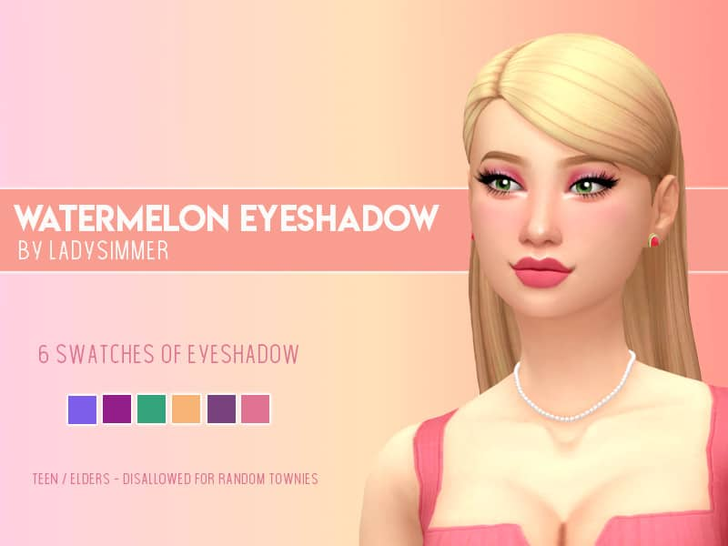 Watermelon Eyeshadow - Sims 4 Mod Download Free