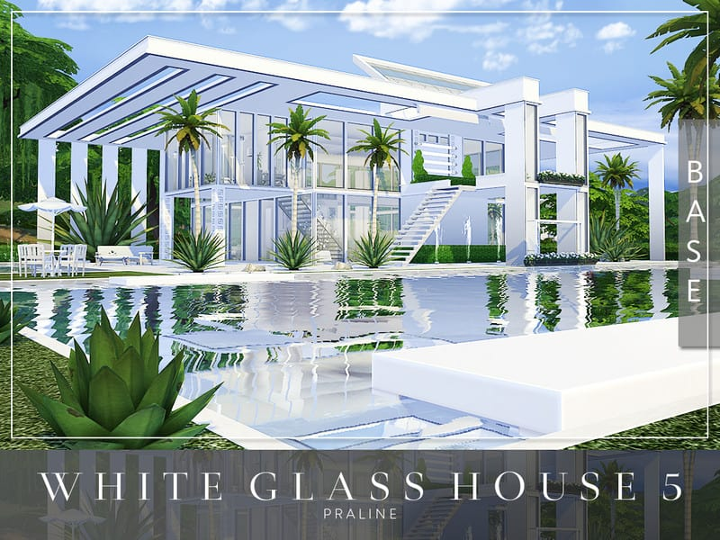 White Glass House 5 Sims 4 Mod Download Free