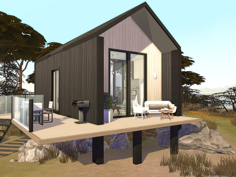 Scandinavian Tiny House - No CC - Sims 4 Mod Download Free